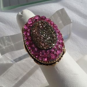 Pink-and-Druzy
