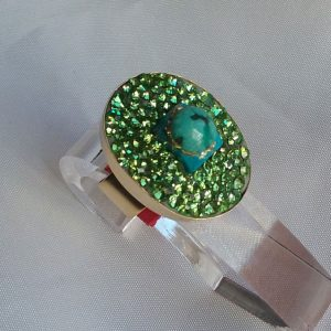 Turquoise-and-strass